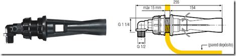 agitador hidráulico curvo inspeccionable