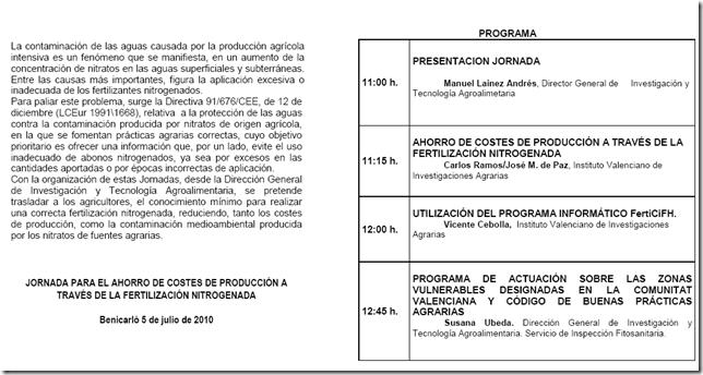 Jornadas 5-8 Julio 2010